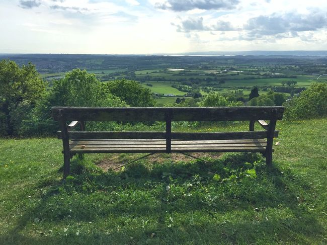 Bench at Wotton Hill Iphone6plus Panaroma Enjoying The View Cotswold Way From The Top Take A Rest Wotton Hill The English Countryside Thegreatoutdoors2015EyeemAwards