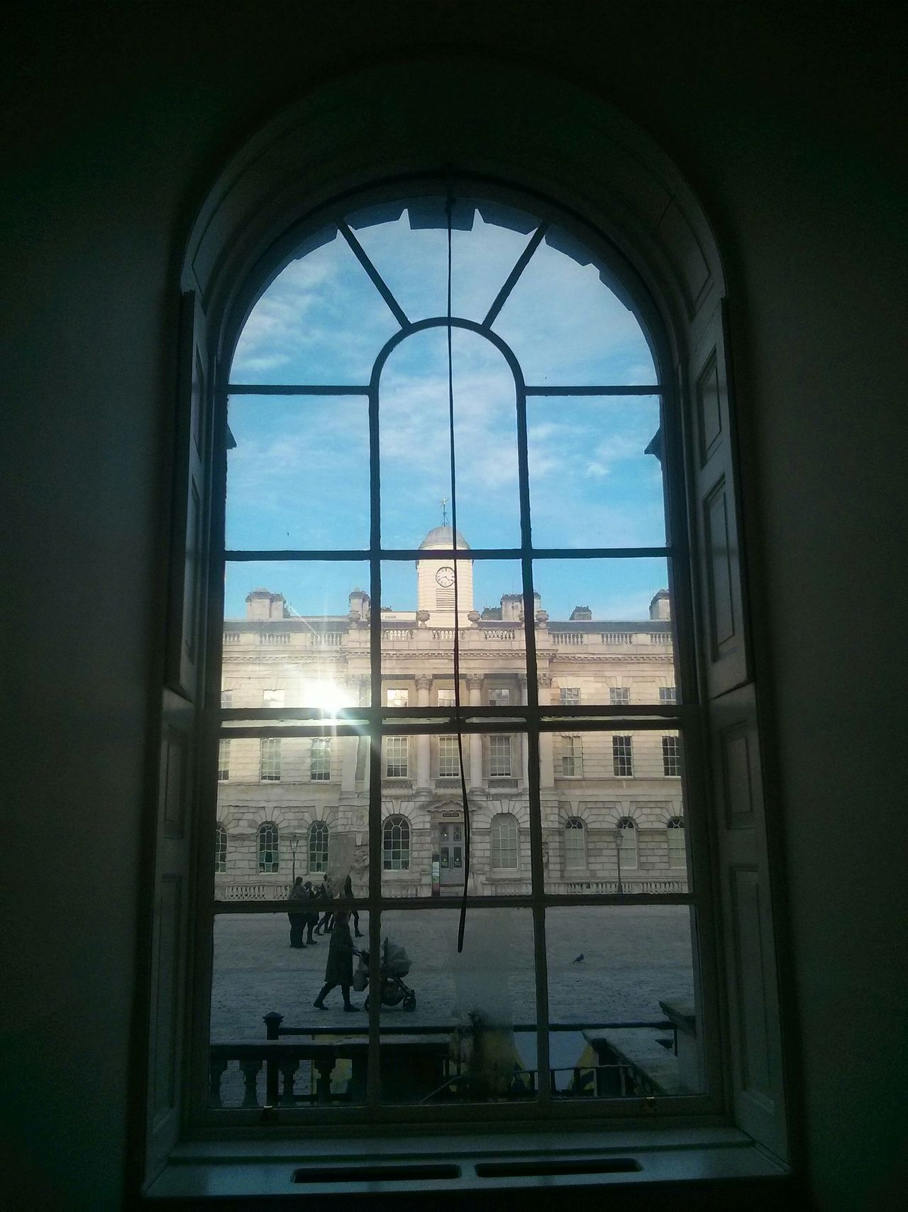 No Filter Window Somerset House  Kovasznai Blue Skies Old London