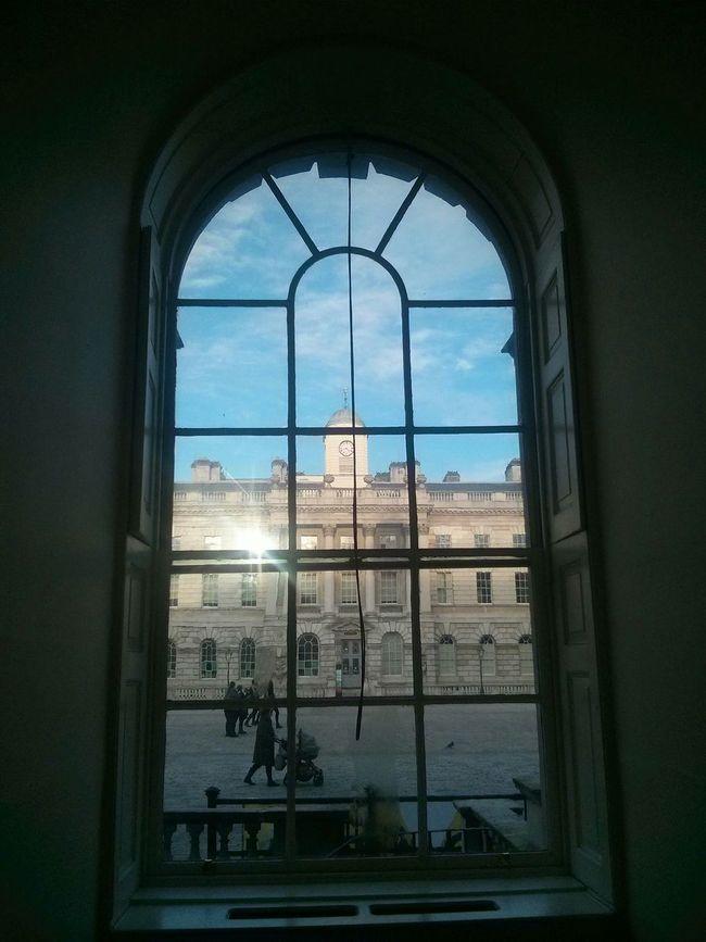 No Filter Window Somerset House  Kovasznai Blue Skies Old London