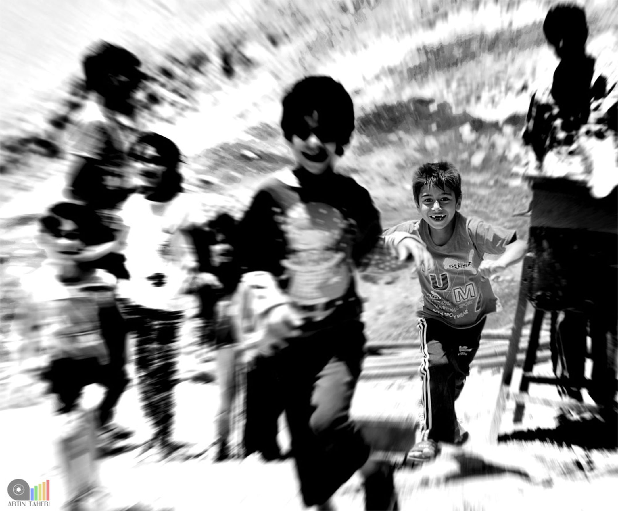 Blurred Motion Motion Real People Long Exposure People Young Adult Happiness Happy Child Children Play Playing Focus On Background My Point Of View Happy Child  بچه سیاه_وسفید سیاه_سفید سیاه و سفید Blackandwhite Black And White Black & White Blackandwhite Photography Black And White Photography Black&white