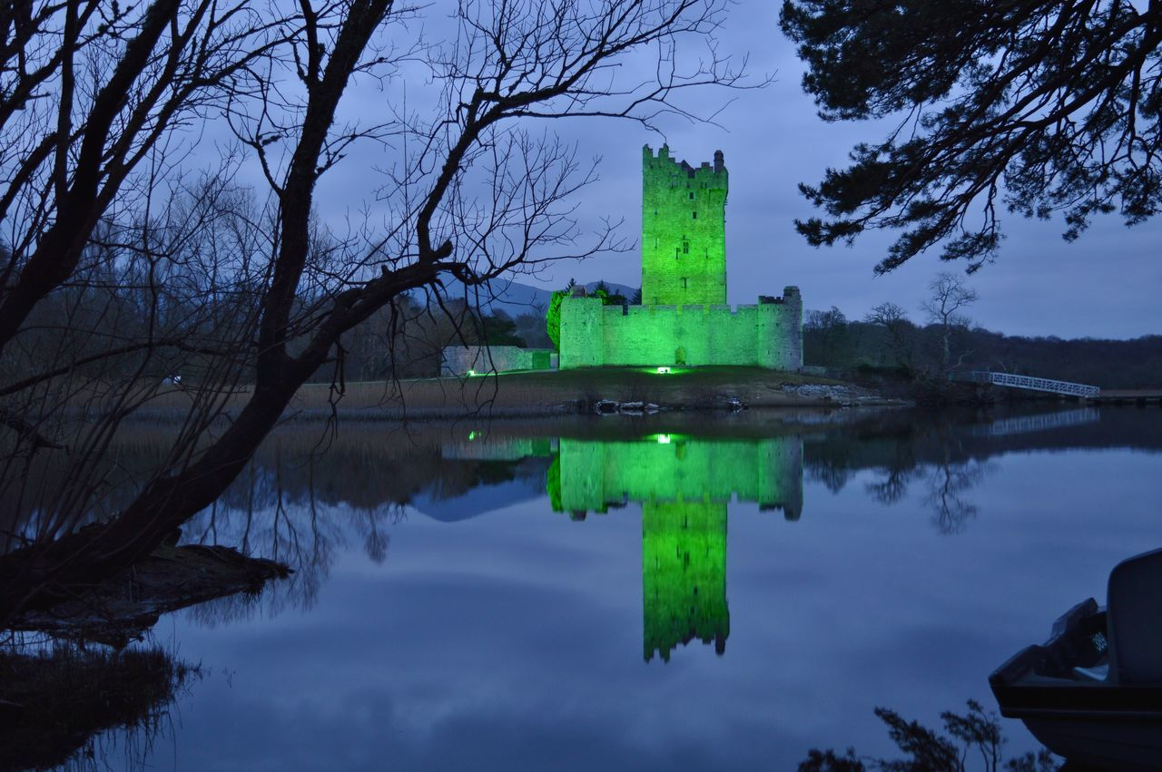 #architecture #buildings #castle  #green #photography #reflections #RossCastle #SaintPatricksDay #trees