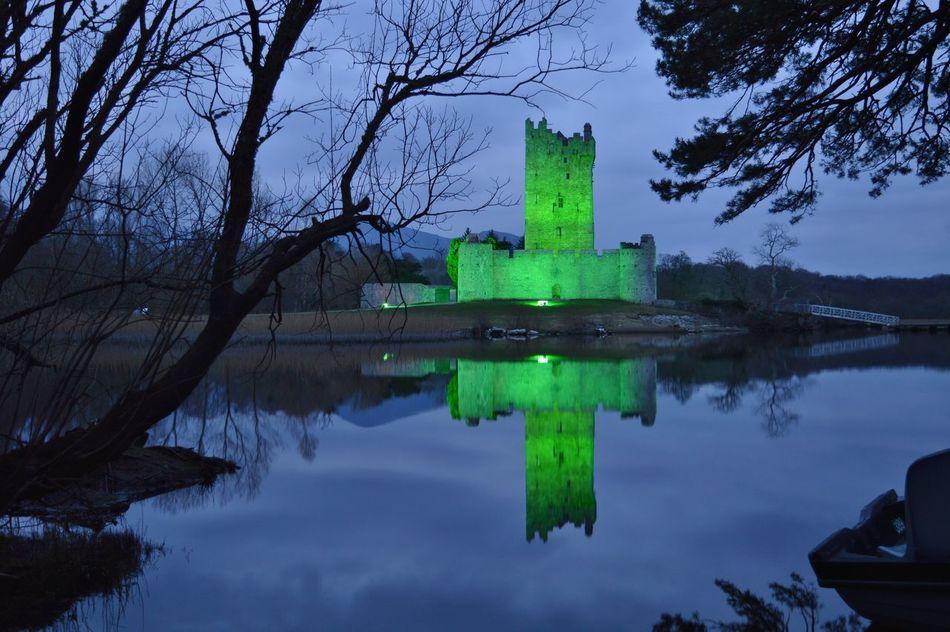 #architecture #buildings #castle  #green #photography #reflections #RossCastle #SaintPatricksDay #trees