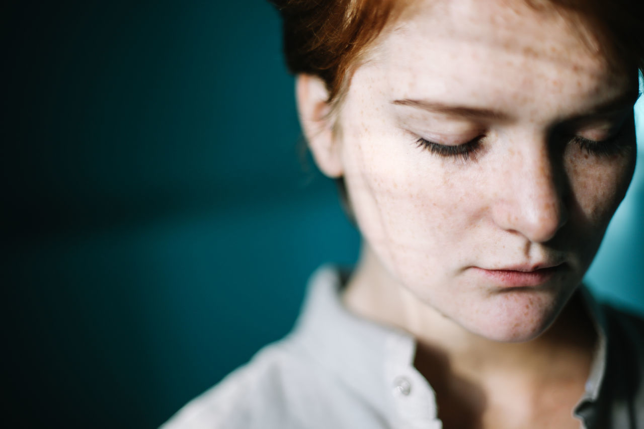 Beauty Blue Day Freckle Freckleface Freckles Ginger Gingerhair Gingerismypassion Girl Girl Power Inlove Mymuse One Person One Woman Only The Portraitist - 2017 EyeEm Awards Women Young Adult Naked Face