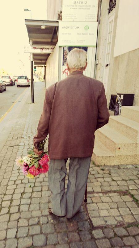 Person Flower Rear View Chivalry Chivalrous Flowers Gentlemen Gent