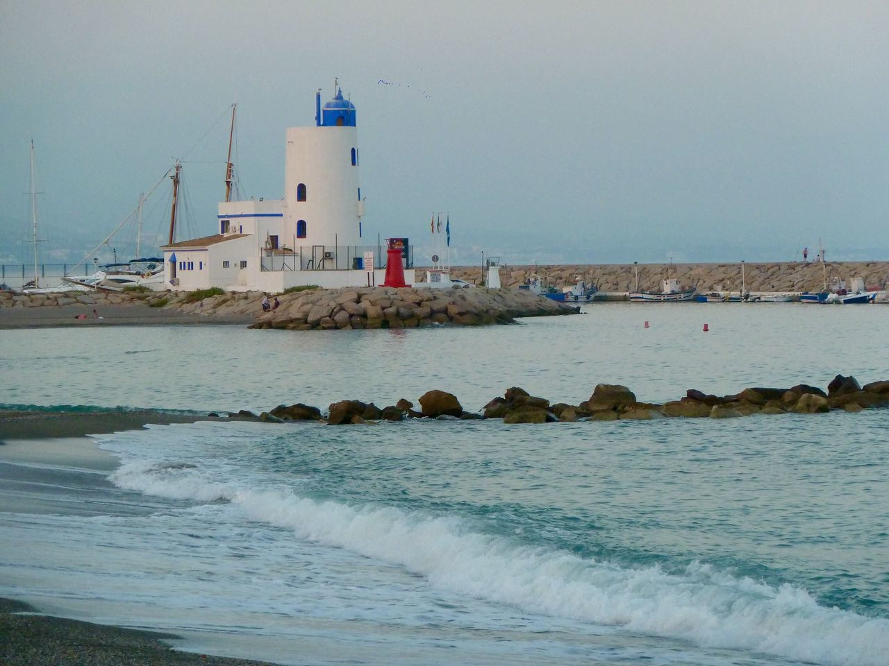 Beach Sea Twilight Lighthouse Duquesa SPAIN Beach Photography