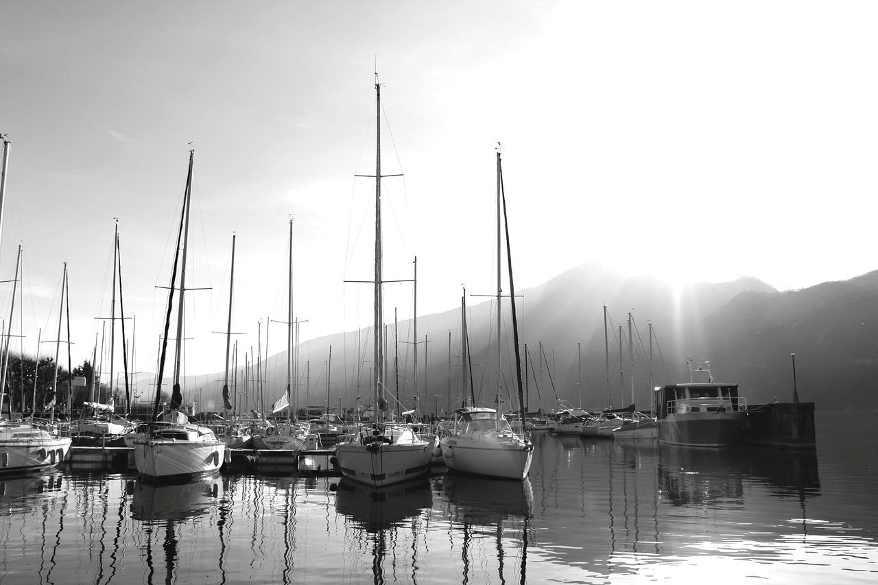 Nautical Vessel Reflection No People Yacht Yachting Black&white Blackandwhite Lake EyeEm Landscape First Eyeem Photo The Week Of Eyeem Life Taking Photos Happy Hour Animals In The Wild Mountain Water Reflection Beauty In Nature Mountain Range Love Nature Boat EyeEm Best Shots