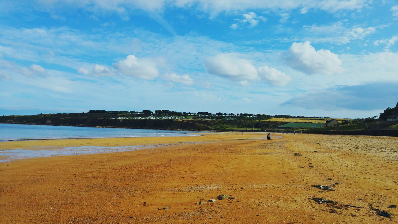 Sea Beach Sand Sky Sunny East Sands First Eyeem Photo 3XSPUnity EyeEmNewHere Warmth Clouds And Sky Clouds Clear Sky Water