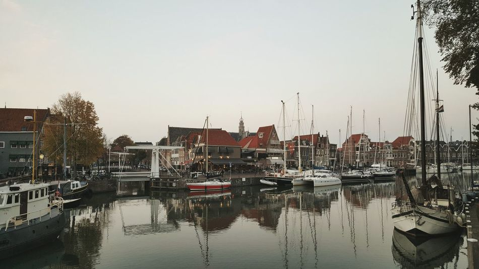 Water Nautical Vessel City Sunset Harbor Architecture Cityscape History Dutch Cities Taking Photos Old Town Hoorn Taking Pictures Architecture_collection Netherlands Hoorn, Netherlands Dutch House Dutch Architecture Old Buildings Exploring New Ground Autumn City Scenics Travel Destinations Architectural Detail