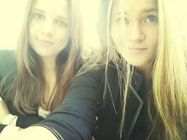в школе с Полькой:D