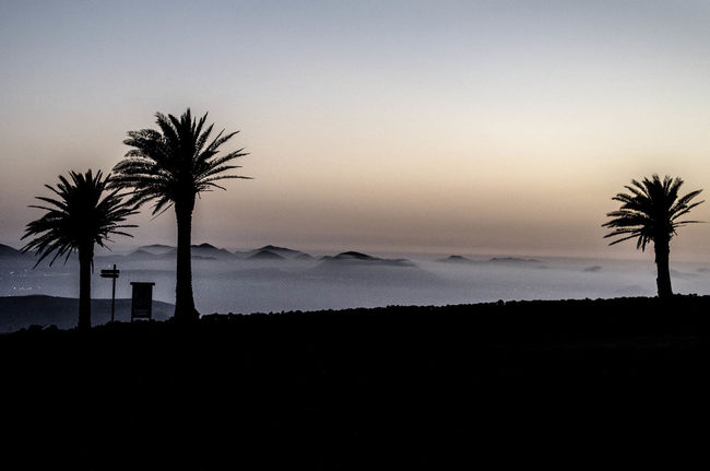 Mountain Beautiful Sunset Lanzarote Island LasNieves Learn & Shoot: After Dark