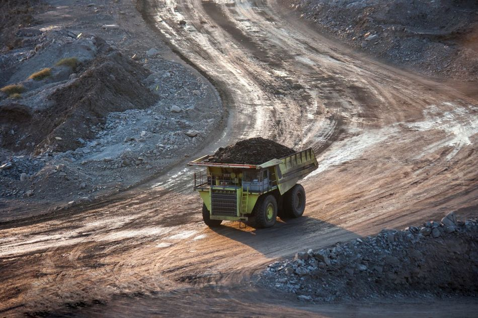 Mine Industry Outdoors Quarry Commercial Land Vehicle Day Nature No People Coal Coalmine Coal Mine Mining Mining Industry Truck Miningtruck Industrial Industry Tranportation