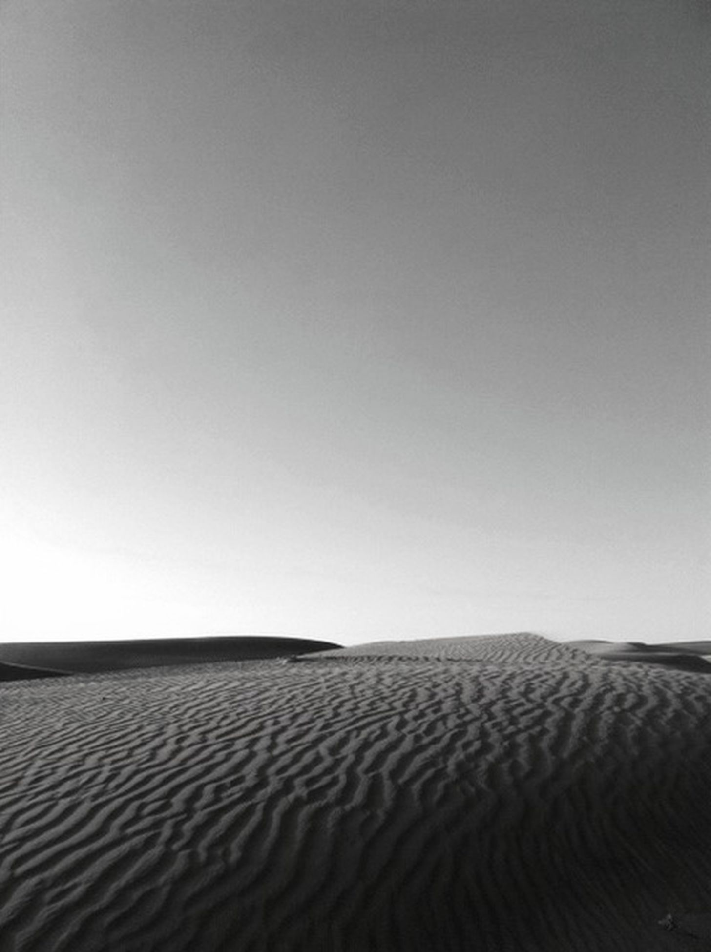 sand dune, copy space, clear sky, desert, tranquility, tranquil scene, sand, pattern, landscape, day, nature, no people, horizon over land, backgrounds, arid climate, scenics, outdoors, remote, sunlight, brown