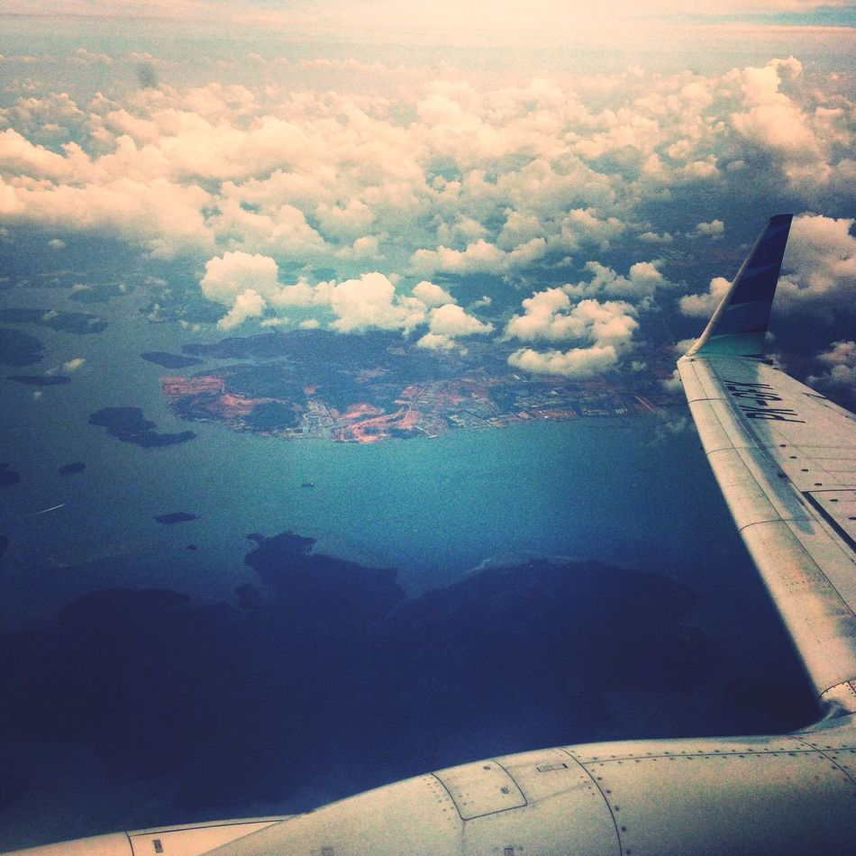 Flying with garuda indonesia ✈️✈️ Taking Photos Fromsky Hello World Garudaindonesia