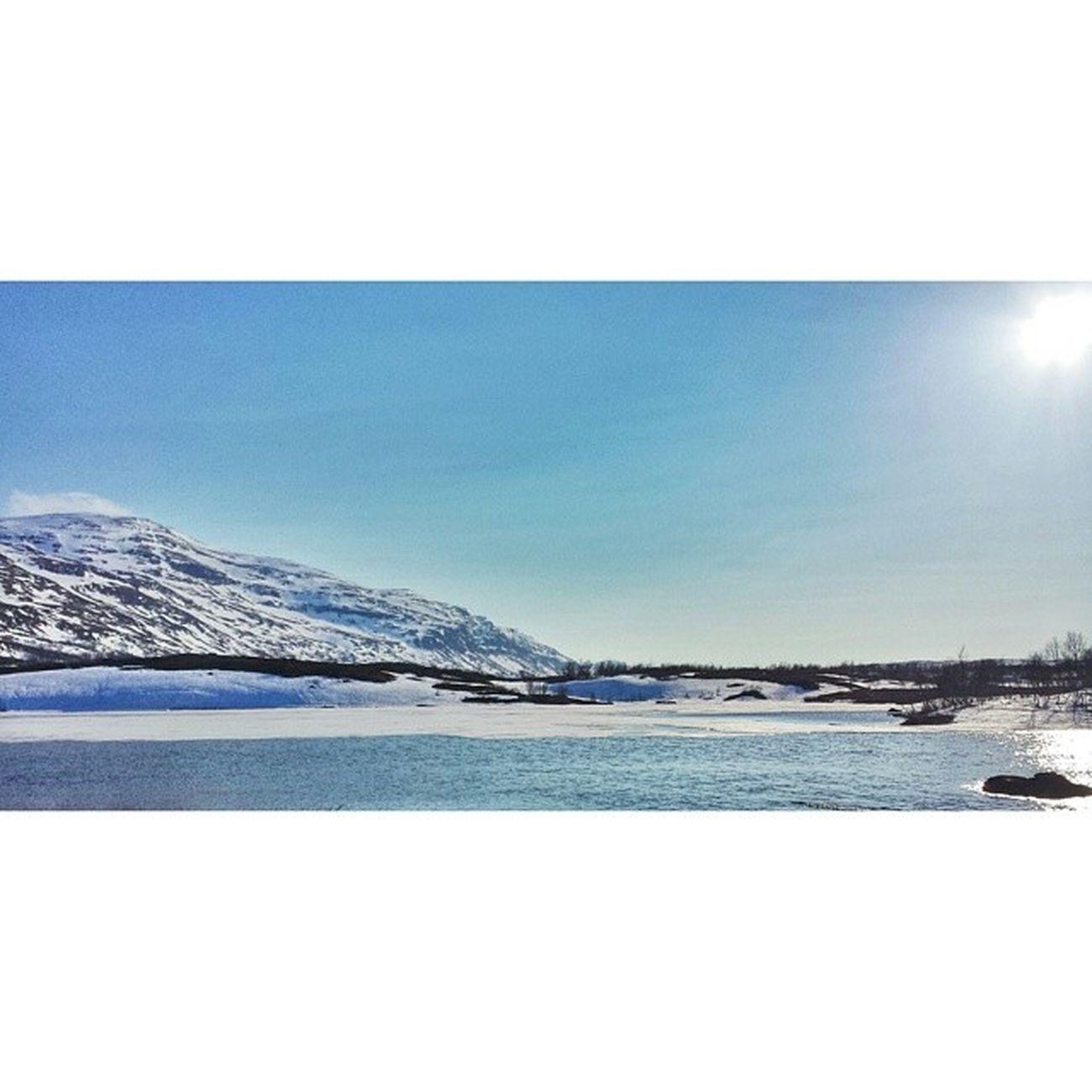 Började sakna snön efter att jag lämnade den och byggnationen utav campet i 2 dagar för en kort tripp till Luleå! Riksgränsen  Secondwork