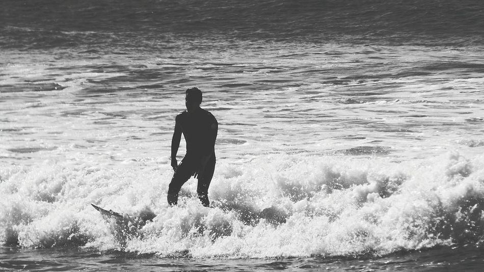 Human Representation Capturing Motion Showcase: October Black And White Photography Surfer Beach Black & White Photography Black And White Collection  Little Waves Surfer On The Water Seaside