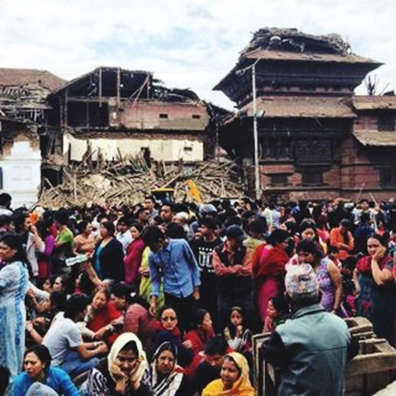 Earthquake in Nepal. Completely heartbroken. I pray for my country and people. Hope we could help PrayforNepal