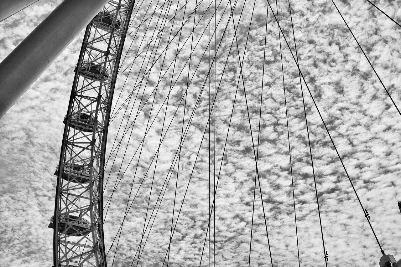 The London EyeEM Amusement Park Architecture Arts Culture And Entertainment Built Structure City Life Cityscape Cloud - Sky Day London London Eye London EyeEm Low Angle View Nature Outdoors Sky Tourism Transportation Travel