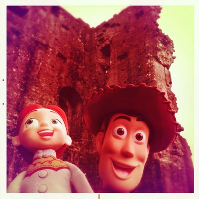 Having fun at Corfe Castle by Dyane6