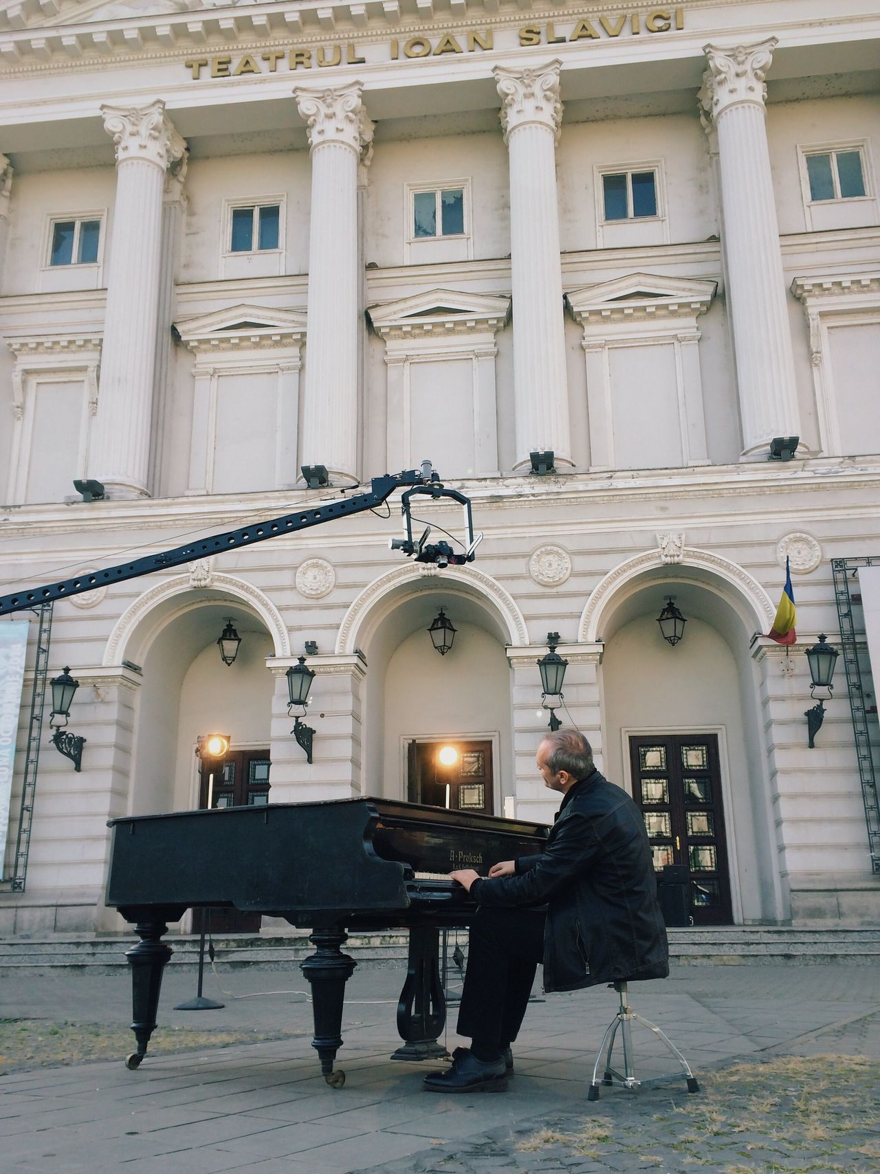 Floating sounds... Music Built Structure Musical Instrument Piano Sitting Architecture Artist Singer  Playing Piano Outdoors IPhone Made In Romania Singing VSCO My Favorite Photo Fresh On Eyeem  Details Of My Life City Life Moments Of Life Relaxing Listening To Music Inspirational Adult Street Piano Moments