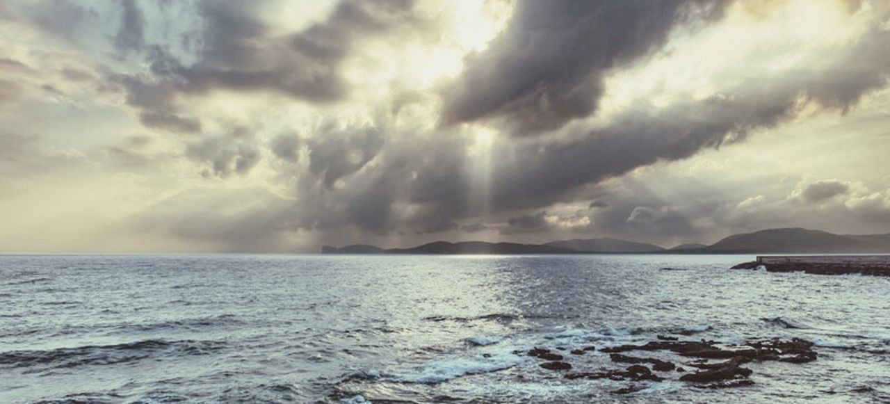 Sea Cloud - Sky Sky Beauty In Nature Scenics Water Nature Tranquility No People Tranquil Scene Weather Horizon Over Water Outdoors Storm Cloud Rippled Day Beach
