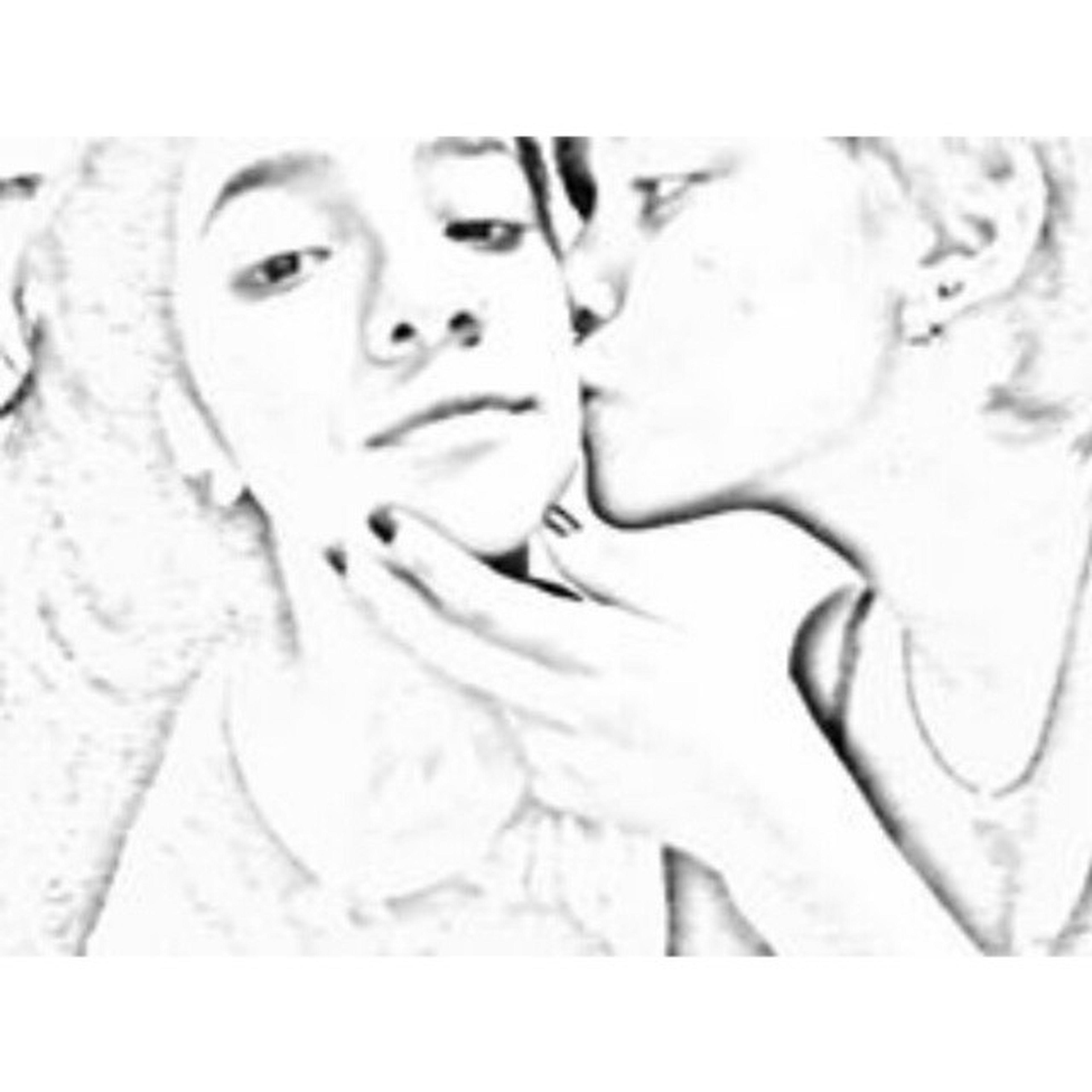 Te amo muchísimo mi bonita Drawing Blackandwhite Today Night Friend LB4 Love Kiss Beautiful Sweet Cute Loving Demostration Pencil Girls MyBlacki Mia