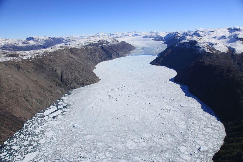 Crossing Inland ice, from Narsarsuaq, July 2013