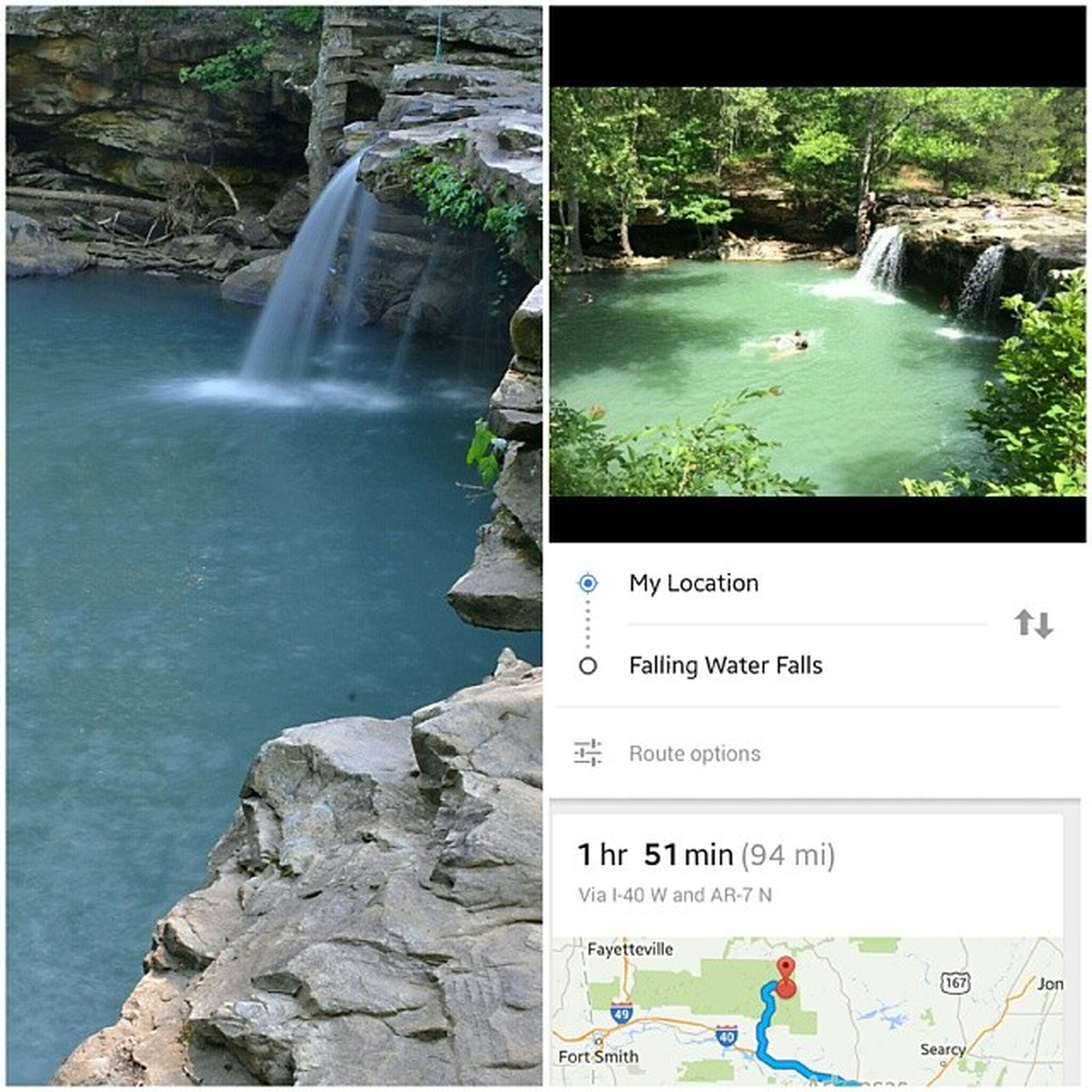 Discovered our next road trip destination tonight. Look at this place!!!! Must. Go. Arkansasbeauty Lovethisstate Arkansas Arkansastravel waterfalls swimminghole