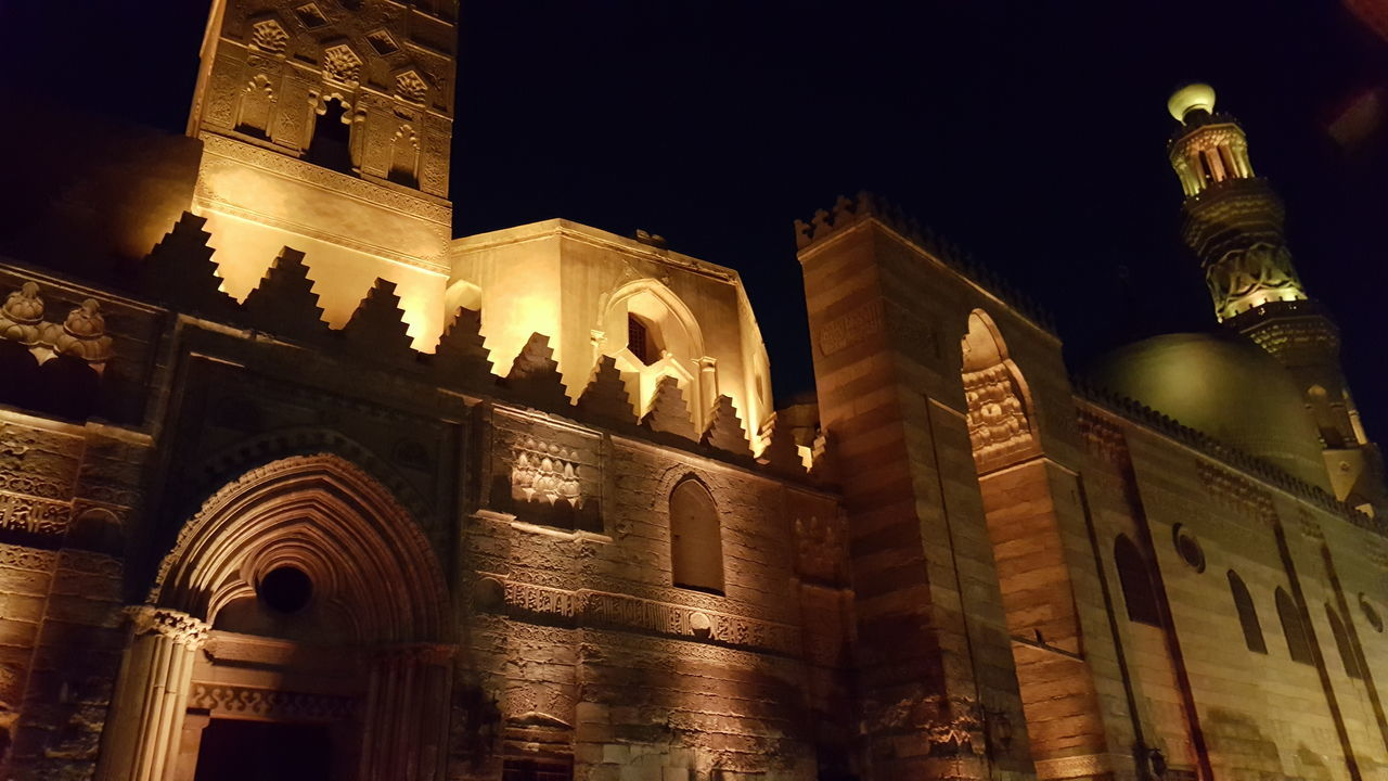 Travel Destinations Architecture Night History Low Angle View Travel No People Tourism Outdoors Illuminated Moezstreet Old Egypt