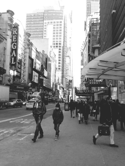 Taking Photos Manhattan NY NYC Tourists B&w Building New York Street Photography