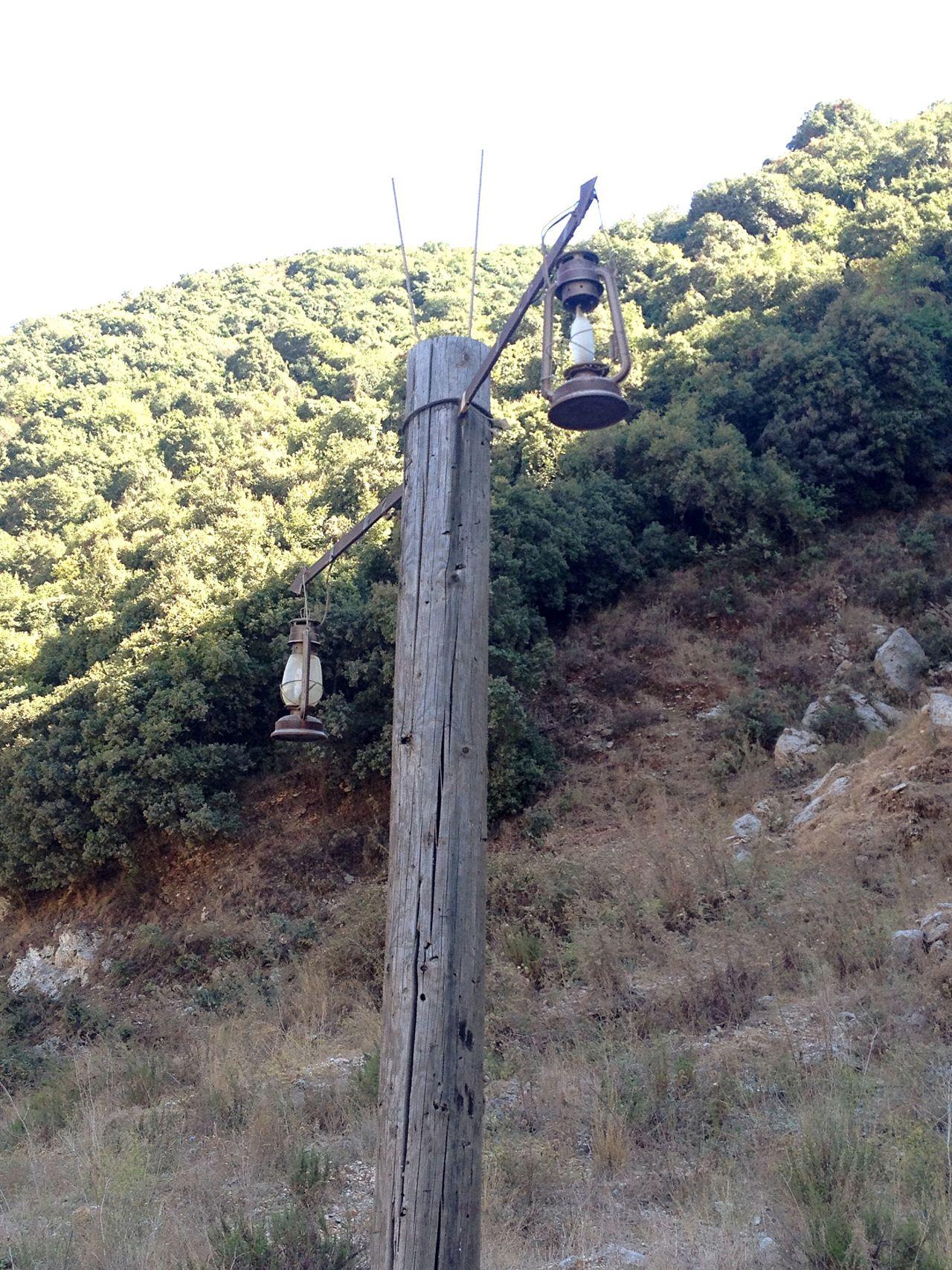 Improvising Lanterns on Electricity Pole Lebanon Urban Decay