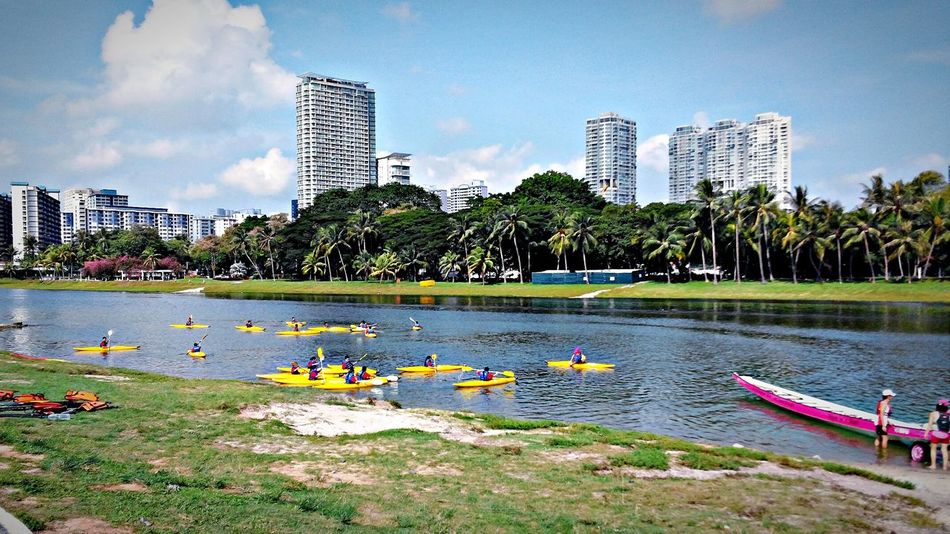Happiness within ... Somewhere Only We Know Kayaking Riverscape Cityspaces Tree And Sky Smooth Day Eyeem Singapore JustDoIt Enjoying The Sights Ilovenature Keeping It Simple Water_collection Buildings & Sky