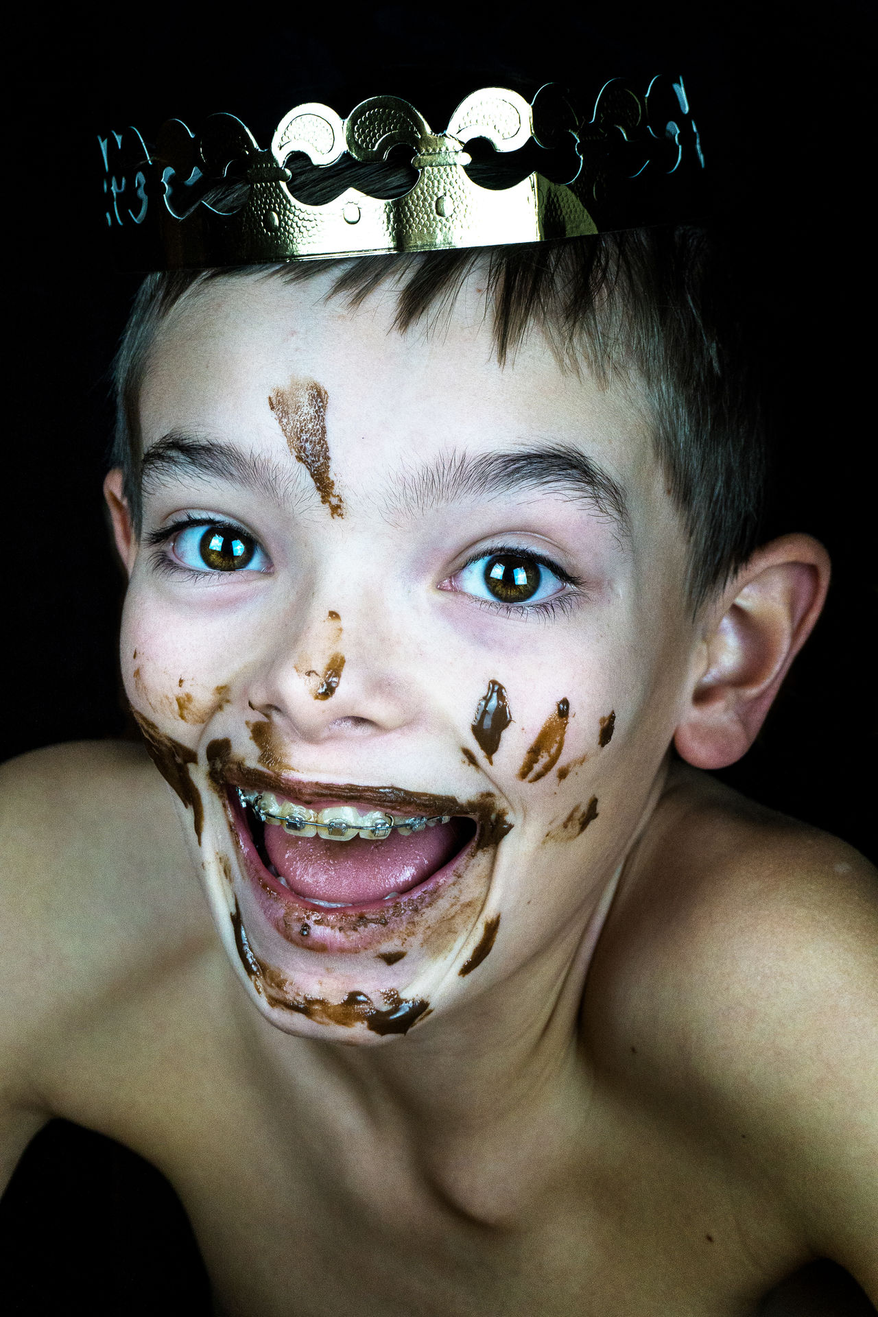 Beautiful stock photos of clown,  12-13 Years,  Boys,  Chocolate,  Close-Up