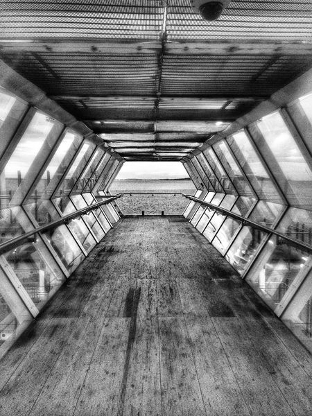 The bridge to the sea. Public Transportation Commuting Blackandwhite Photography My City