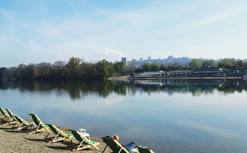 Nice, sunny autumn day. Belgrade,Serbia Ada Beauty In Nature Autumn🍁🍁🍁
