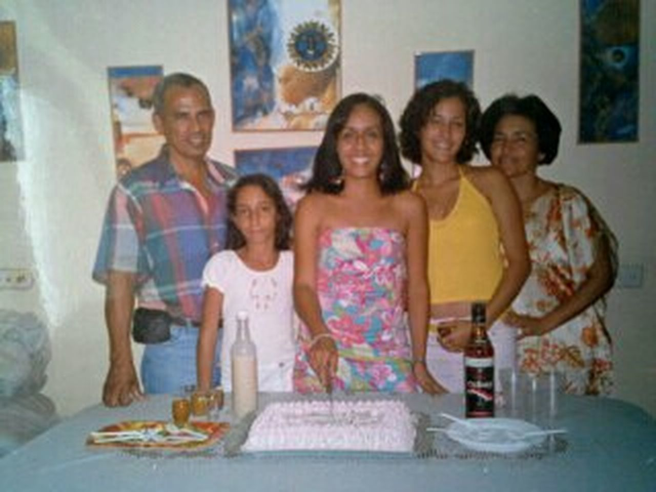 Family Portrait Celebrating My Birthday years ago ❤❤❤❤❤❤❤❤❤ Cheese! Cuba