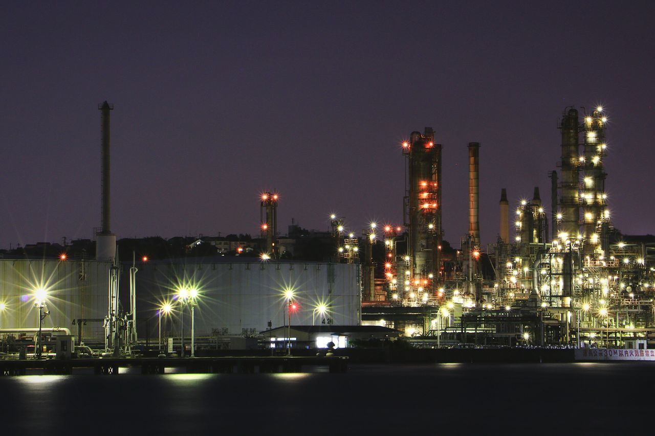 Industry Factory Oil Industry Night Refinery Oil Refinery Illuminated Bay Reflection Bayside Factory Zone Factory Night View Long Exposure Landscape Nightscape Nightview Nightphotography Nightpicture Japan Yokohama Industry Tank