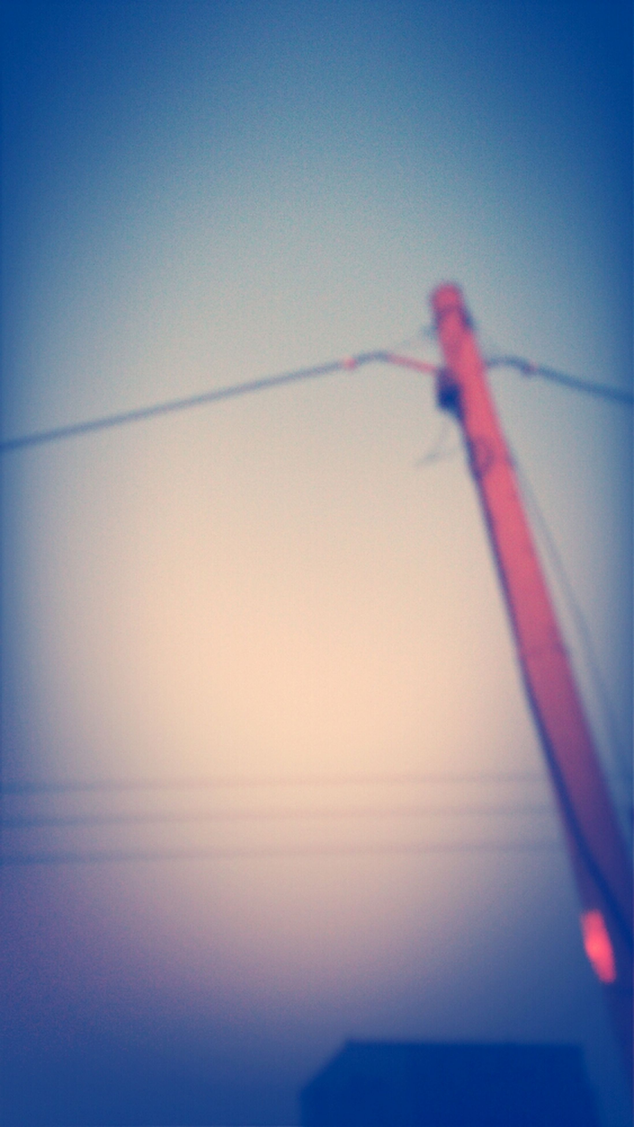 blue, clear sky, copy space, low angle view, electricity, cable, nature, no people, outdoors, sky, connection, beauty in nature, tranquility, dusk, close-up, technology, power supply, day, power line, lighting equipment