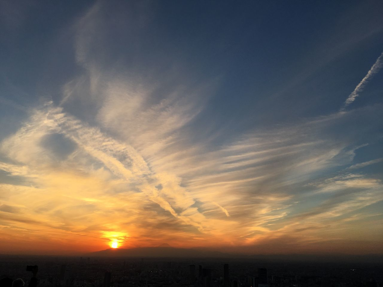 Japan Roppongi Sunset Roppongihills Tokyo Skyview fuji Sky Nature Tranquility Silhouette Landscape Scenics Beauty In Nature Cloud - Sky Tranquil Scene Outdoors No People Day Orange