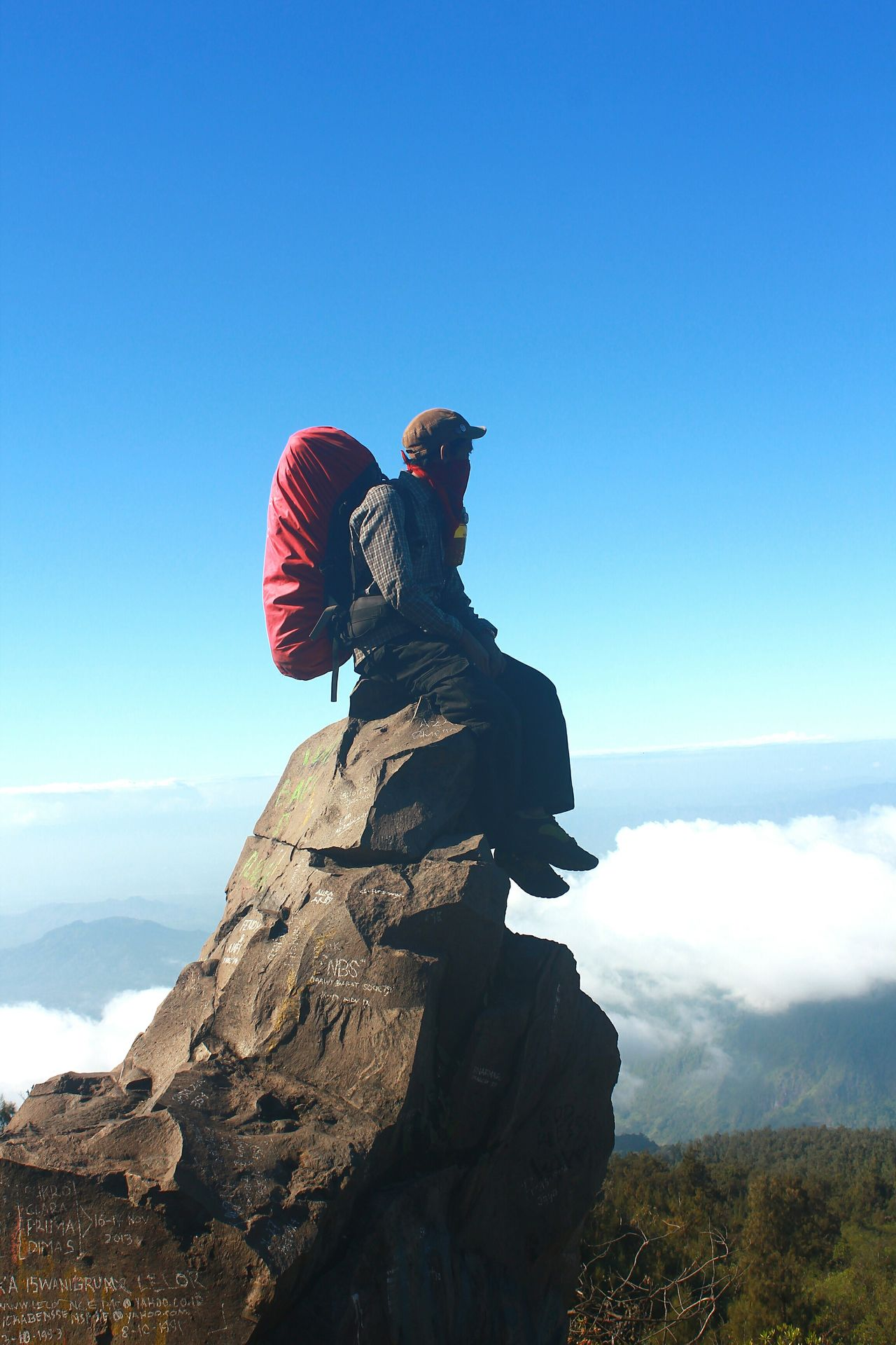 Sit on the rock and enjoyed the moment for awhile when hike in the top of mount lawu in java Sky One Person Human Body Part People Outdoors Day Hiking Adventure Wanderlust Java Sitting Alone Sitting Enjoying The View Enjoying Nature Enjoying Life Rock Mountain Range Mountain Mountain View