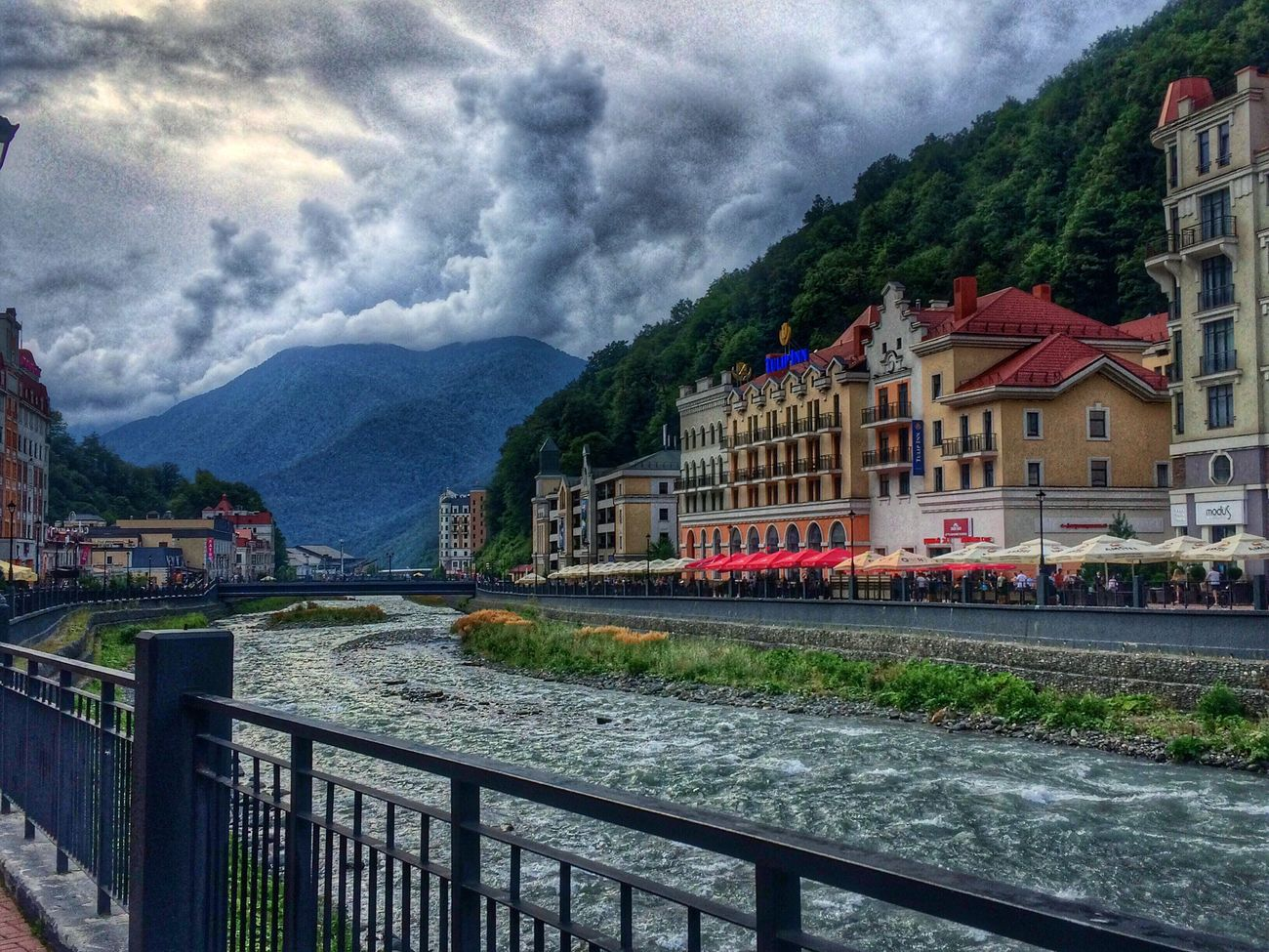 Krasnaya Polyana Sochi Sky Cloud Mountain Water Mountain Range Outdoors Travel