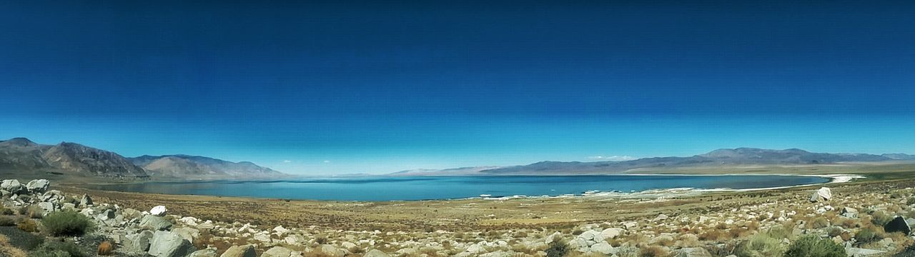 Blue Scenics Clear Sky Lake Beauty In Nature Nature Walker Lale Mineral County Nevada