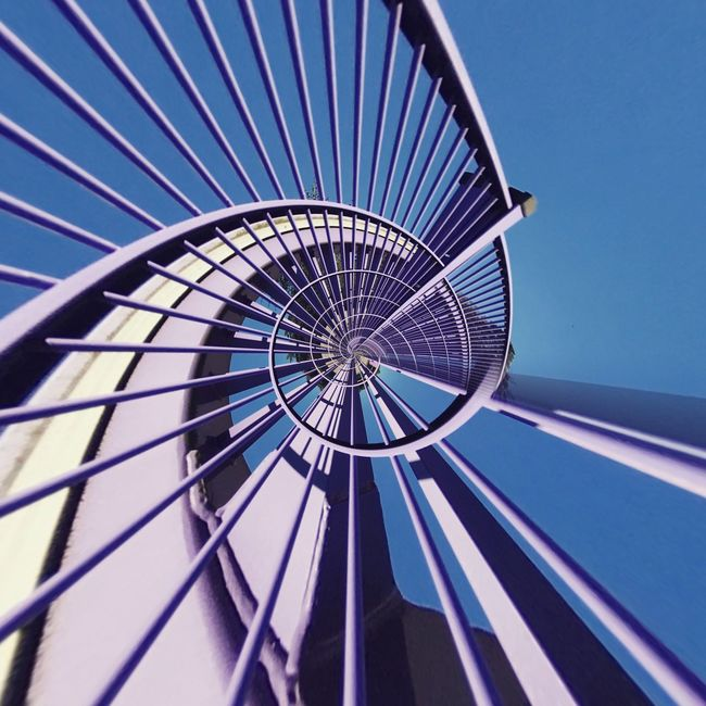 Blue Low Angle View Built Structure Architecture Directly Below Sky Close-up Day Repetition No People Office Building Urban Urbanexploration Architectural Minimalism Architectural Feature Geometry Modern Circle Geometric Shape Urban Geometry Urban Exploration Urbanphotography