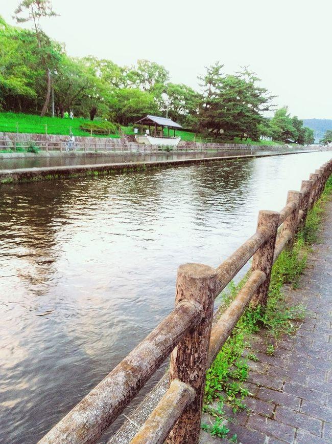 Hi! Relaxing Taking Photos Riverside River View Kurashiki Japan 倉敷