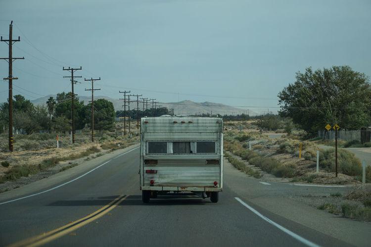Inspired by BrBa TV Show Breakingbad Caravan Desert Methlab Mode Of Transport Nature No People One Animal Ontheroad Outdoors Road Rv Street Transportation