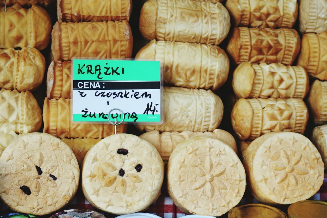 Market Price Tag Zakopane, Poland South Of Poland Tradicional Food Cheese Healty Food Winter Holidays Delicious ♡ Polish Food Outdoors Oscypek, Cheese