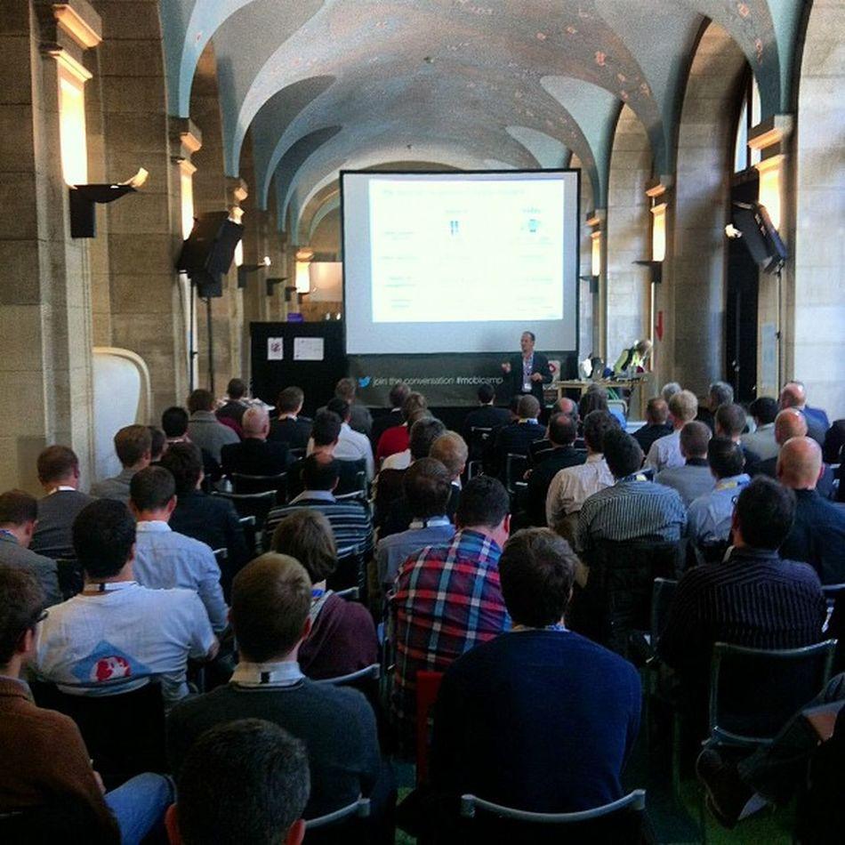 Andreas Constantinou presenting at #mobicamp Mobicamp