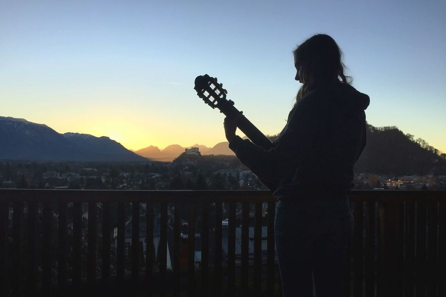 Sunset Sunset_collection Festung Hohensalzburg Salzburg Alps Guitar Youth Of Today