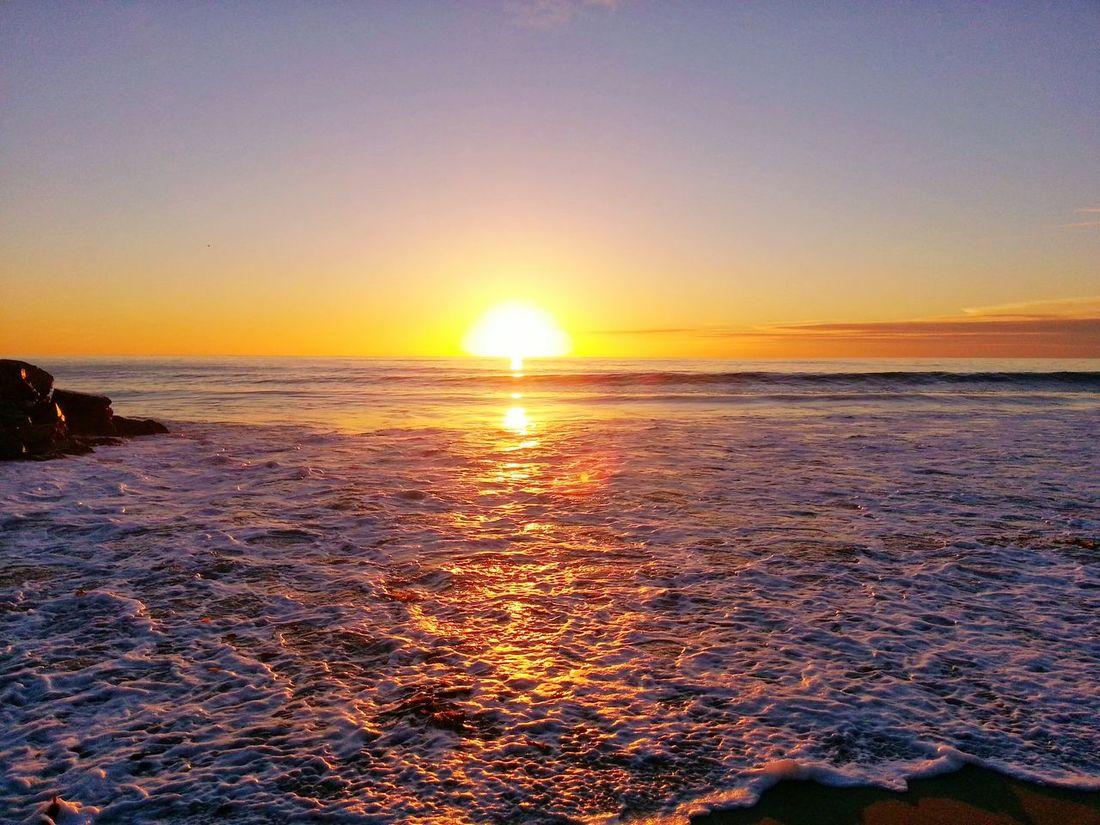 Sunset at Tamarack Beach in San Diego, California Outdoors Nature Landscape
