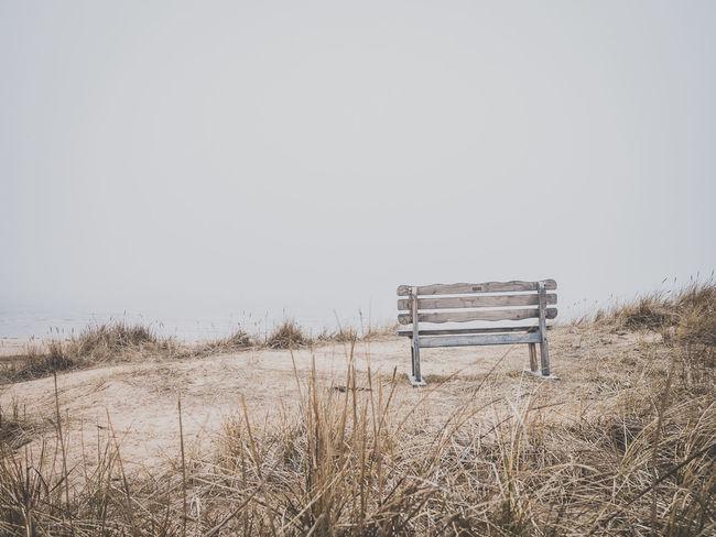 Fog Foggy Sea Beach Mellbystrand Bench