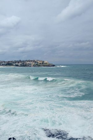 Sea Beauty In Nature Scenics Water Horizon Over Water Outdoors No People Cloud - Sky Nature Beach Sky Cityscape Day Wave Bondi Beach